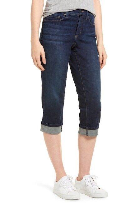 NYDJ Marilyn Cropped Cuff Jeans M66Z2108 Bezel bluee Size 16