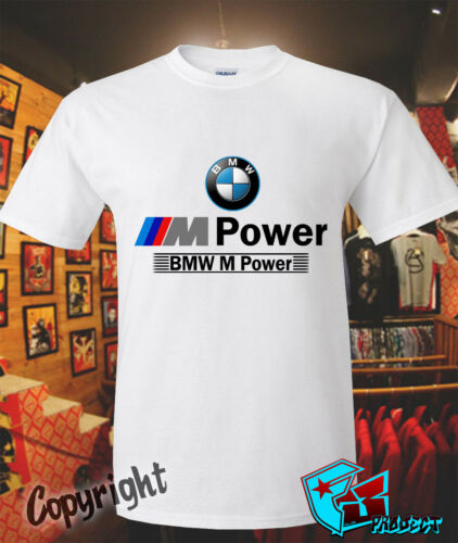 New Official BMW M3 M4 M POWER Logo T-SHIRT Size S to 3XL