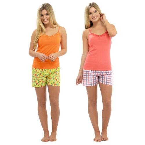 Ladies Cotton Jersey Pyjamas n Short Sleeve T Shirt Short Bottoms Pants