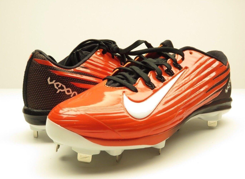 NEW w/o BOX Nike Vapor Cleats Flywire Lunarlon Orange Baseball Cleats Vapor Men's Size 8.5 221828
