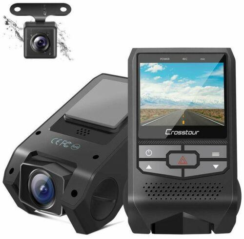 Delantero Trasero Doble Cámara en Tablero FHD 1080P Mini Coche DVR Grabador de panel de control sensor G HDR