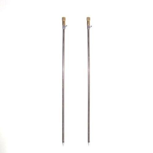 2x Bank Stick Erdspieß Erdspeer Rutenauflage Rutenhalter 100-160 cm 8200012