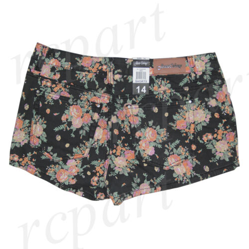 New Jeans Colony Women/'s Casual Jeans Shorts Summer Black Floral 14 16 18 20 22
