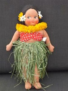 591ms Georgene Averill 33cm Hawaii Marron Chiffon Fille Tout Original