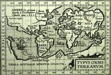 Mapa mapa del mundo planisferio TIPO ORBIS TERRARUM de Abraham ORTELIUS 1601