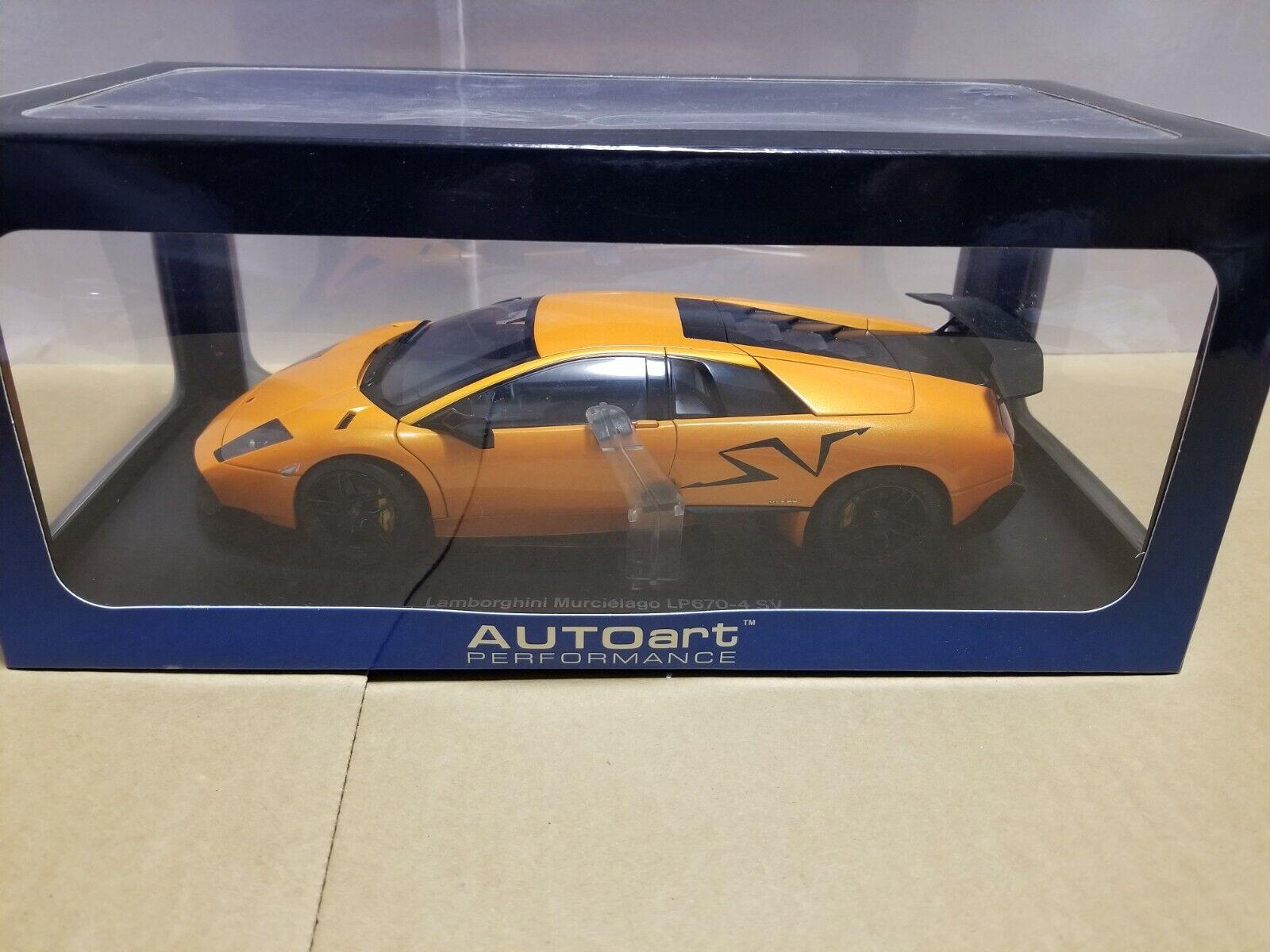 Autoart Lamborghini Murcielago LP670-4 Sportverein arancia 74617 1 18