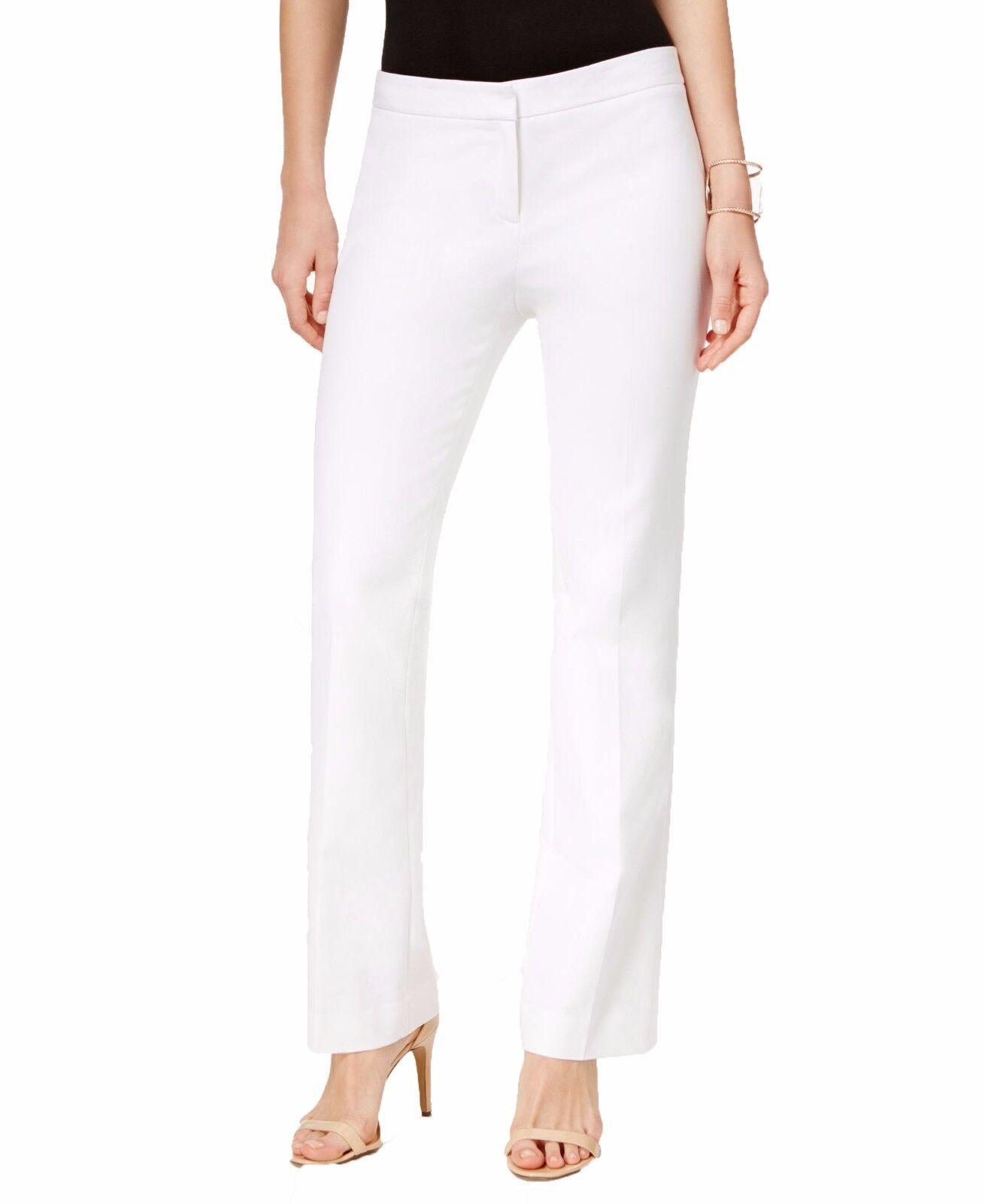 6948-2 Vince Camuto Women's White Flare-leg dress Pants size 14,  89