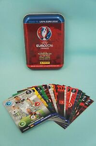 panini adrenalyn xl road to uefa euro 2016 mini tin box 24 karten neu em ebay. Black Bedroom Furniture Sets. Home Design Ideas