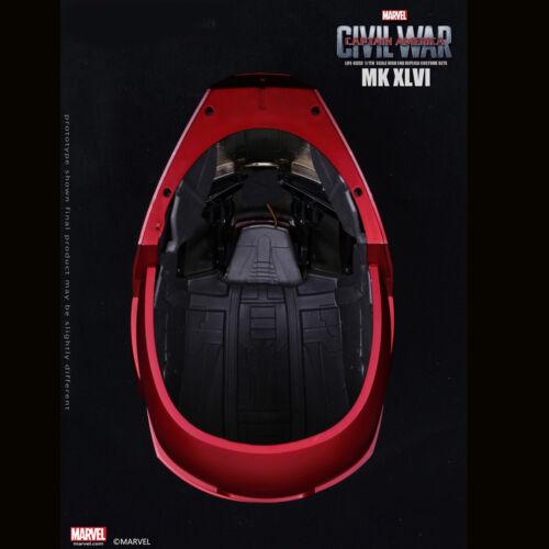 Marvel Captain America Civil War 1//1 Iron Man MK46 Helmet Automatic On-off Wear