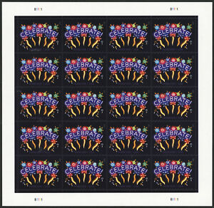 US 2015 Forever Neon Celebrate! Sheet of 20 Stamps Scott #5019 MNH