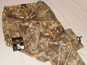 NEW-Realtree-Edge-Camo-Cargo-Pants-Buck-Horn-Hunting-Camouflage-Jeans-Mens-Sizes