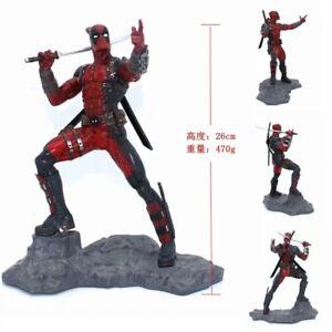 New-Marvel-X-Men-Deadpool-1-6-Statue-Super-Hero-Action-Figure-Status-Toy-No-Box
