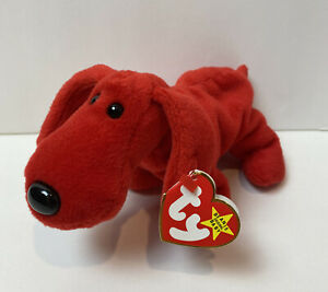 Ty Beanie Baby ROVER The Red Dog VTG Style # 4101 Original PVC Pellets