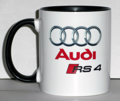 AUDI RS4  CAR ART MUG GIFT CUP