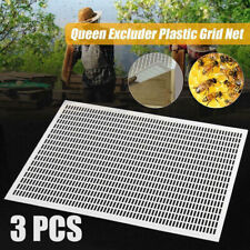 10 Frame Plastic Bee Queen Excluder Beekeeping Box Trapping Tool Grid Net 3 Pcs