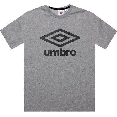 697766-6C8 dark shadow grey $40.00 Umbro Fettes Logo Tee