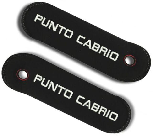 Coppia Copricintura copri cintura per Fiat Punto Cabrio personalizzat con ricami