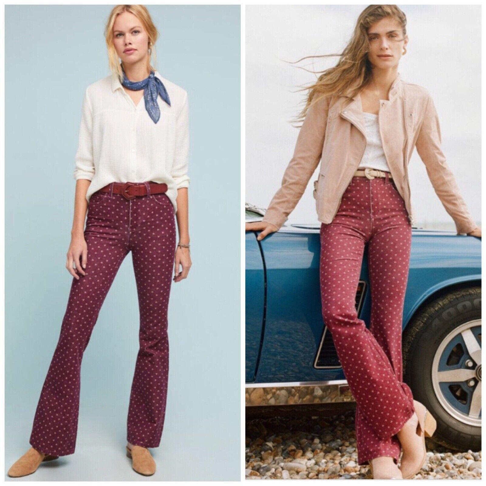 Anthropologie Pilcro High-Rise Bootcut Jeans Woman Corduroy New Size 27 Retro