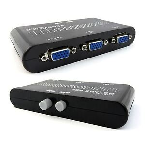 SVGA-VGA-Manual-Switch-Box-Splitter-2-Port-Way-Two-Sources-to-One-Monitor-UK