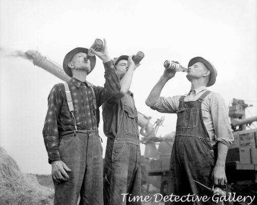 Michigan Farmers Drinking Beer Jackson 1941 Historic Photo Print