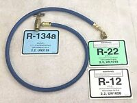 R134a Top Mount Screw-on Can Taper With 36 Long R12 R22 Charging Hose Set-up