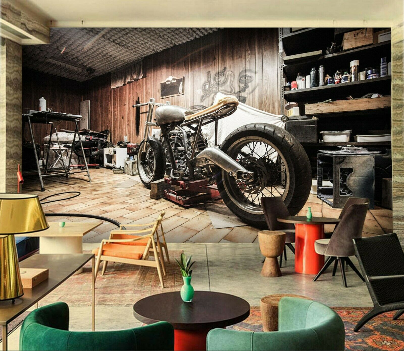 3D Moto-Cross Q86 Auto Tapete Wandbild selbstklebend abnehmbare Acmy