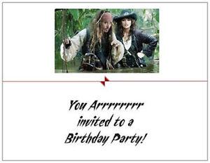 20-Birthday-INVITATIONS-Post-Cards-Pirates-Johnny-Dep