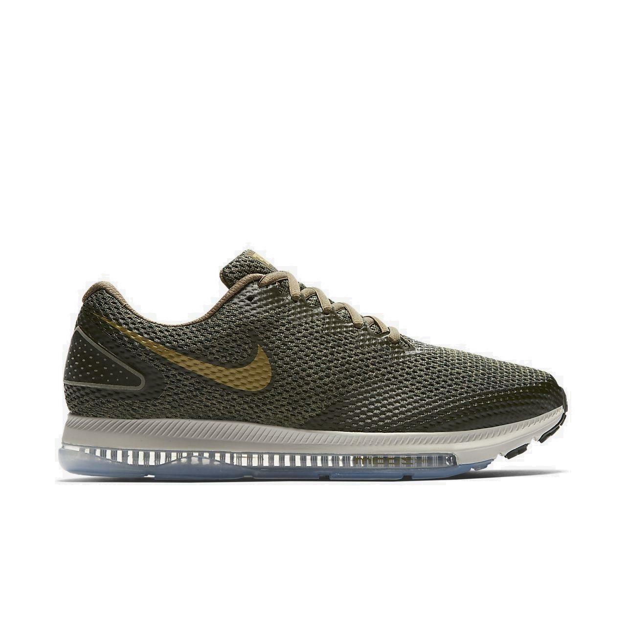 Mens NIKE ZOOM ALL OUT LOW 2 Medium Olive Running Trainers AJ0035 201
