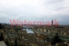 Areal View Arno River Skyline Florence Italy 1954 Kodak Red Border 35mm Slide 2