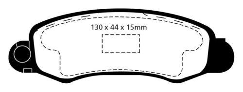 EBC Greenstuff Sportbremsbeläge Vorderachse DP21345 für Suzuki Swift 2