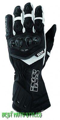 IXS RS-200 Herren Motorrad Sport Handschuh schwarz weiß Racing Handschuhe Leder
