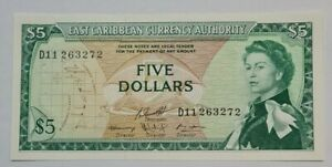 1965 EAST CARIBBEAN STATES $5 GEM UNC【P-14g】