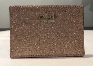 info for 72796 3248c Details about NWT authentic Kate Spade Burgess Court card holder wallet  rose gold pink glitter