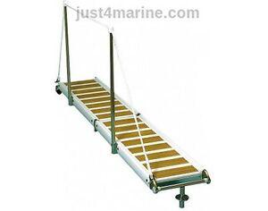 Gangway-Walkway-Foldable-260cm-2-6m-Anti-Skid-Iroko-Marine-Yacht-Boat