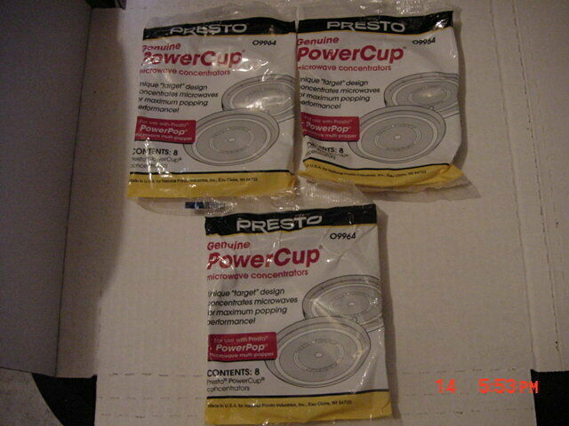 Presto Genuine Power Cup Microwave POPCORN Popper Concentrators  4 lot
