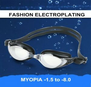 7d0f1c6fe1 Image is loading Swimming-Goggles-Professional-Silicone-Myopia-Anti-Fog-UV-