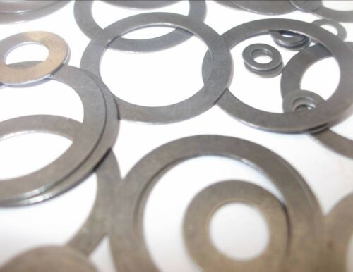 Steel Shim Washers 0.3mm Thickness. Classic. 3mm -/> 19mm Vintage. Motorbike.