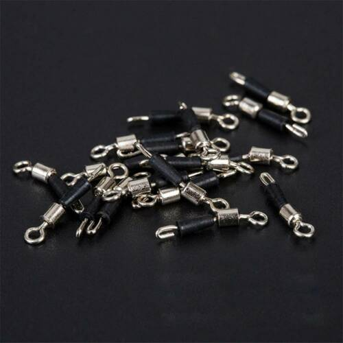 30PCS Ball Bearing Swivel Solid Rings Fishing Connector Boat Fishing Hook.#