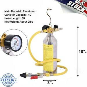 A//C AC Air Conditioner System Flush Canister Gun Kit For R134 R12 R22 R410 R404