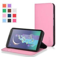 Billfold Pu Leather Wallet Flip Cover Case For Google Nexus 6 Light Pink