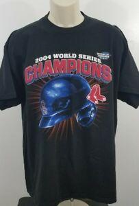 Men-039-s-2004-World-Series-Champions-Boston-Red-Sox-T-shirt-XL-Black-686