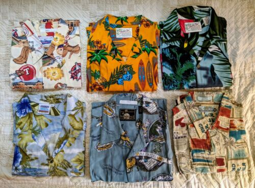 Hawaiian Shirts CLASSIC Vintage LOT 6 Mens REYN SP