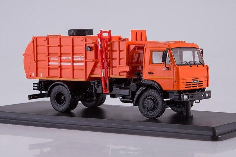 Mkm 4503 camión de basura en chasis de 45253 escala 1 43 de inicio Kamaz Modelos SSM1273