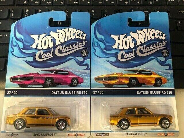 1 64 Hot wheels Cool Classic Datsun blueeBird 510 two different cards