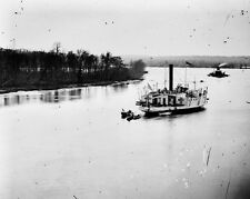 New 8x10 Civil War Photo: Gunboat COMMODORE PERRY on the James River
