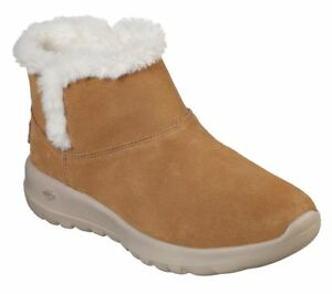 Details about Skechers Women's on the Go Joy Bundle Up 15501CSNT Soft Suede Ankle Boots