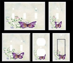 Image Is Loading Purple Erfly Water Color Light Switch Cover