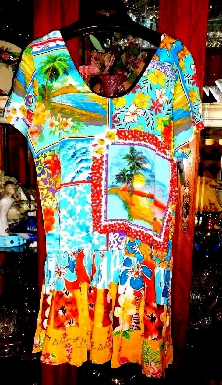 Jams World FAB NEW NWT Dress M M M  Hawaiian HATTIE Island Magic  Beach Cruise 3c7a4c