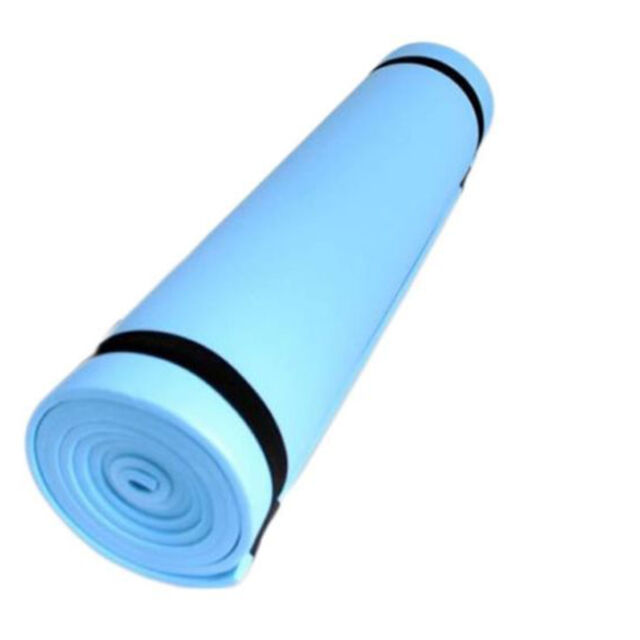 NEW Blue Yoga Camping Beach Sleeping Ground Mat 180 x 50cm Roll Up Mats Foam NEW