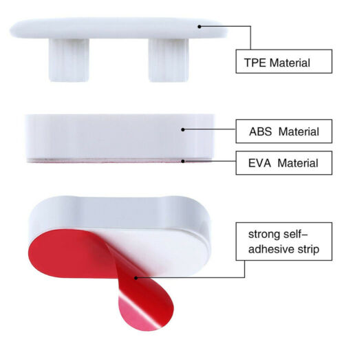 4PCS Toilet Seat Loose Loo Quick Fix Buffers Bumpers Kit Strong Adhesive